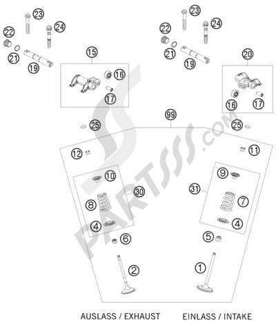 KTM 450 EXC-R SIX-DAYS 2008 EU VALVE DRIVE