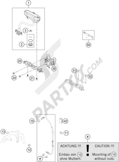 KTM 125 EXC 2008 EU INSTRUMENTS / LOCK SYSTEM