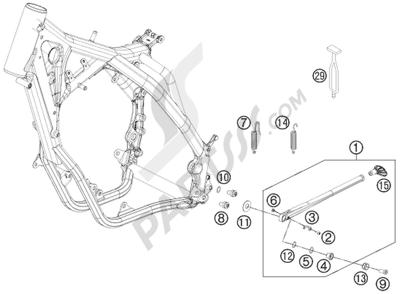 KTM 125 EXC 2008 EU SIDE / CENTER STAND
