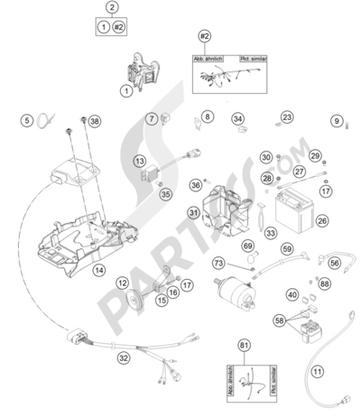 Ktm 300 Exc 2009 Eu Dissassembly Sheet Purchase Genuine Spare Parts