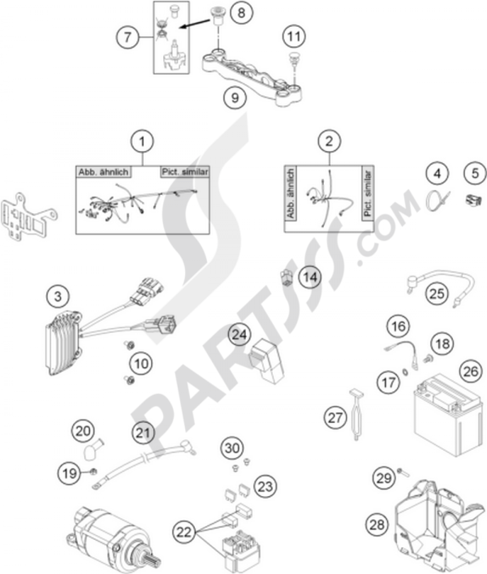 Ktm 200 Exc Wiring Diagram Library 300 2003 Diagrams Motorcycle500 Six Days Harness 1000 100 2013 500