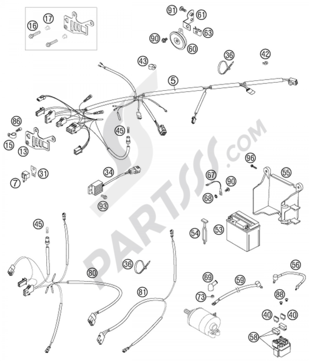 Ktm 525 Exc Wiring Harness Custom Diagram G 06 Images Gallery