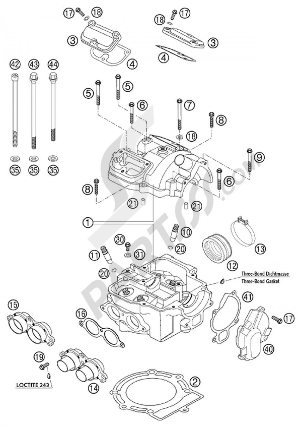 ktm engine diagram repair machine ATV Engines and Transmissions