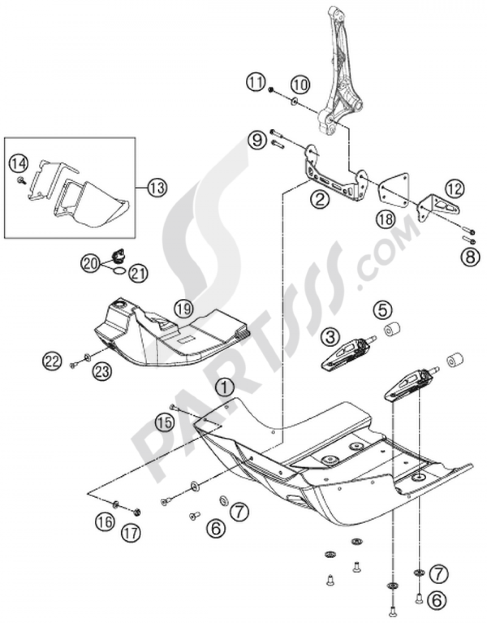 Engine Guard Ktm 450 Rally Factory Replica 2014 Eu Diagrams