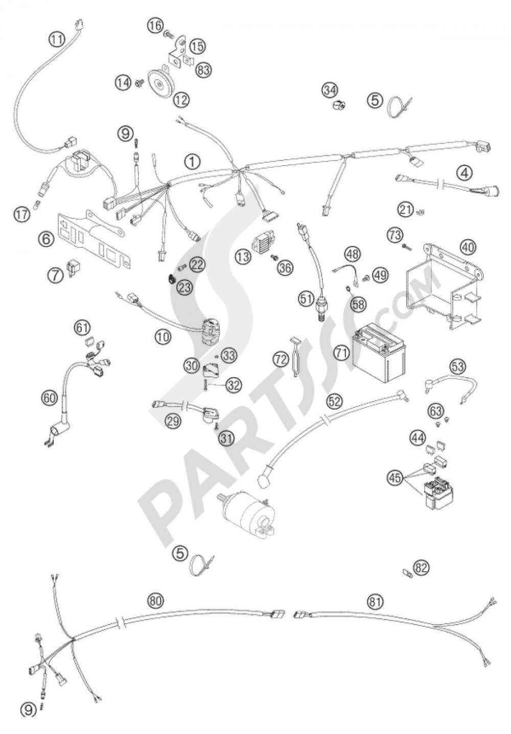 Ktm 525 Wiring Harness Explained Diagrams Racing Eu Aus Mxc Desert 2004 Motorcycles