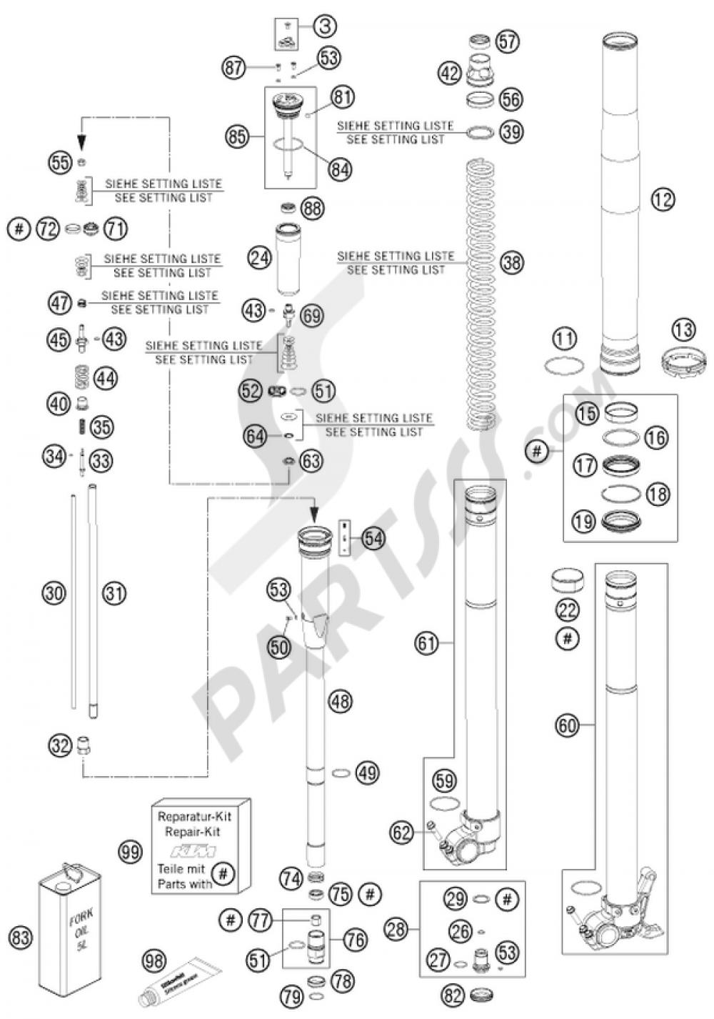 Front Fork Disassembled Ktm 450 Smr 2010 Eu Wire Schematic