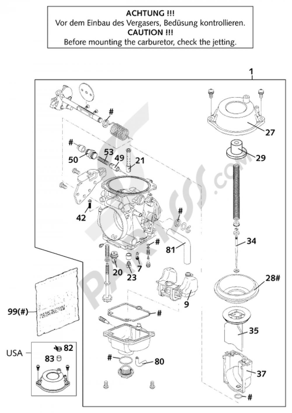 Carburetor Ktm 640 Lc4 E Smoto Prestige 2001 Eu Wiring Diagram