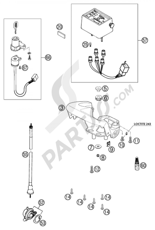 Ktm 640 Lc4 Wiring Diagram Diagrams Speedometer Lock System E S Moto Prestige 2002 Eu 2007