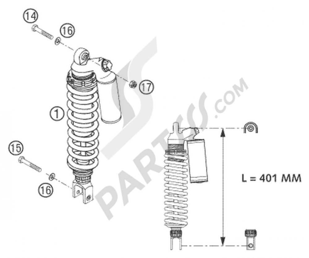 Shock Absorber Wp Ktm 640 Lc4 Supermoto White 2005 Eu Wiring Diagram