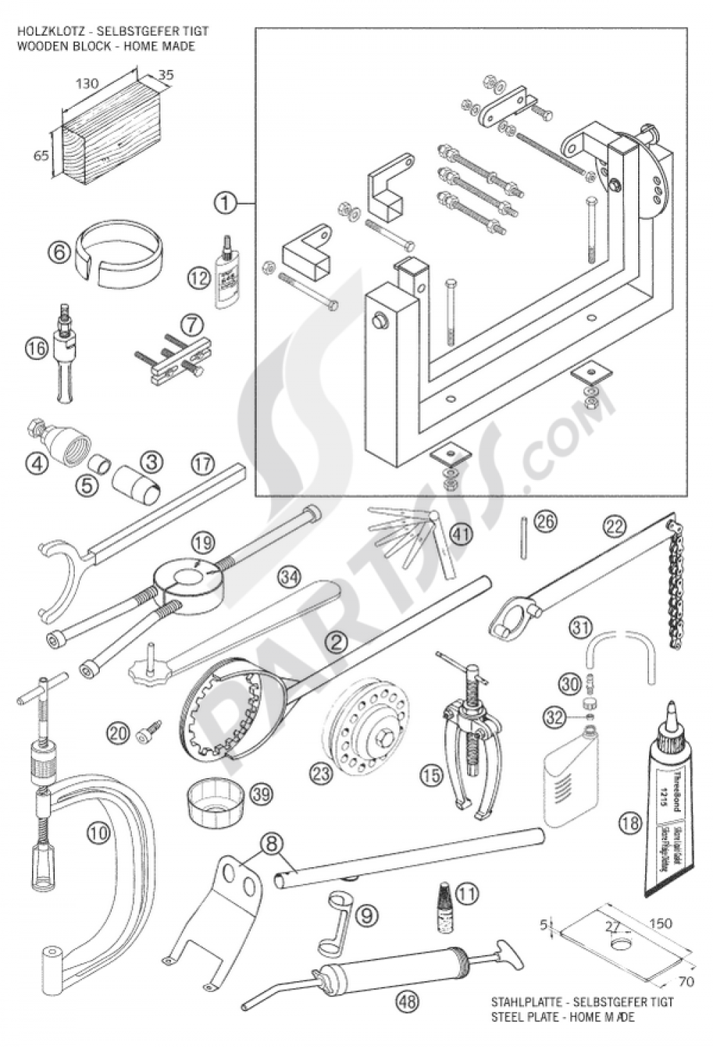 Special Tools Ktm 640 Lc4 Supermoto Black 2006 Eu Wiring Diagram