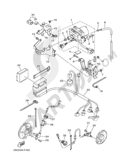Yamaha Tdm 900 Abs 2009 Dissassembly Sheet Purchase Genuine Spare