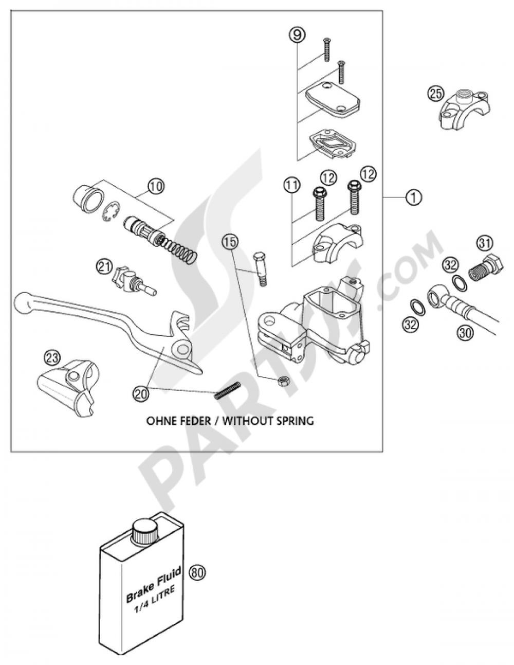 Hand Brake Cylinder 640 Lc4 Ad Ktm Adventure 2003 Eu Wiring Diagram