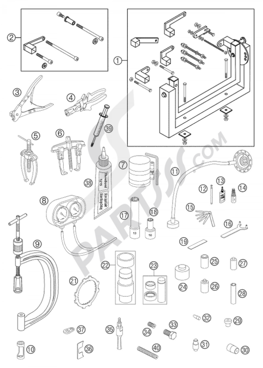 Lc8 Ktm Motorcycle Engine Diagrams Real Wiring Diagram 990 Adventure Special Tools 950 Silver 2003 Eu Rh Partsss Com Motor