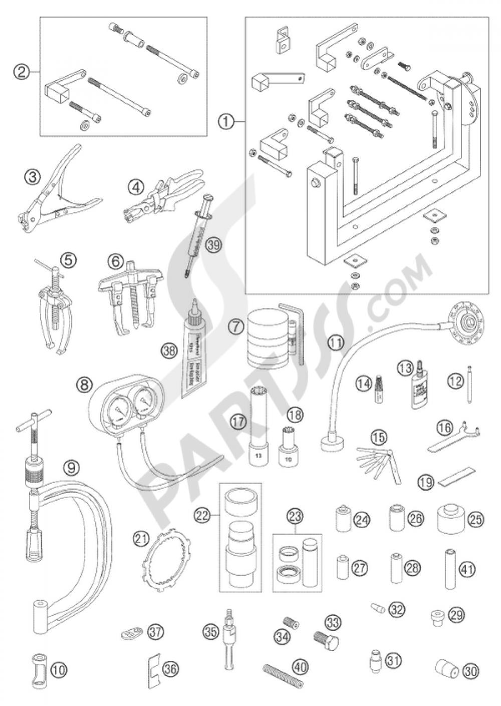 special tools engine lc8 ktm 950 adventure s blue high 2004 eu rh partsss com