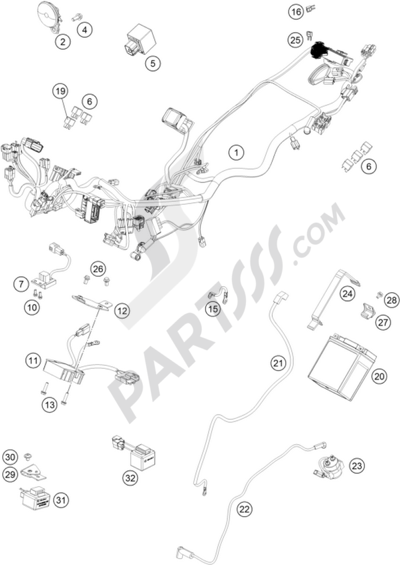 Ktm 250 Duke Wh Abs B D 2015 Eu Dissassembly Sheet Purchase