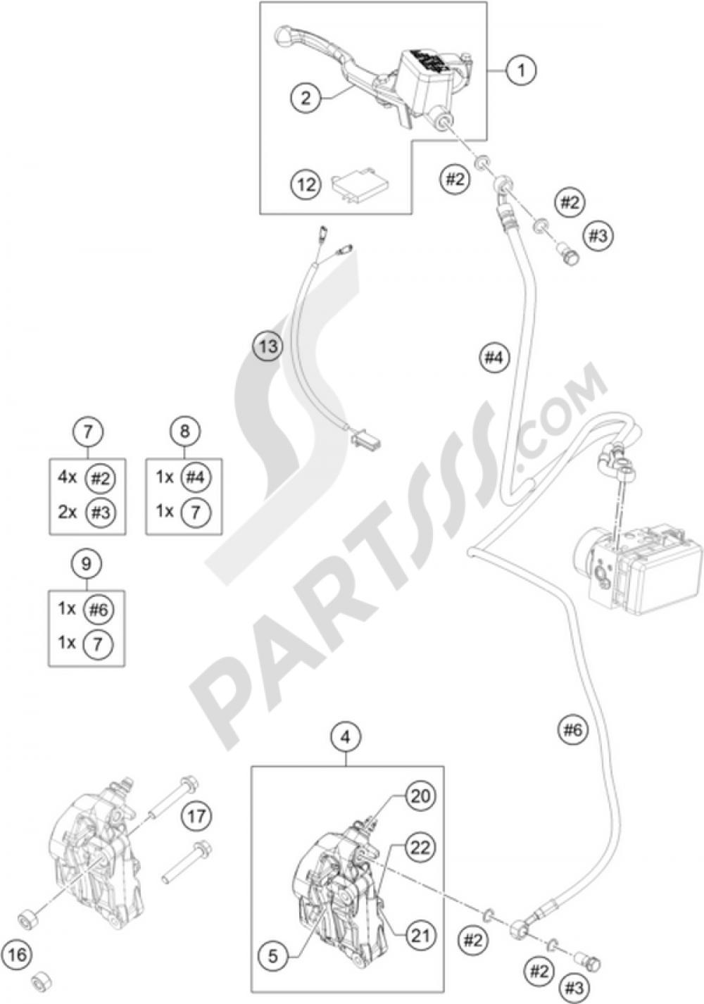 Brake Caliper Front Ktm Rc 390 White Abs 2015 Eu Duke Wiring Diagram