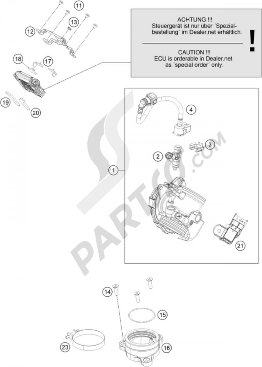 Throttle Body Ktm Rc 390 White Abs 2015 Eu Duke Wiring Diagram