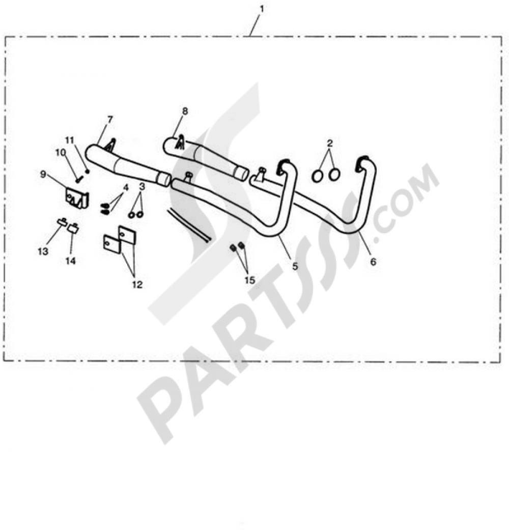 Exhaust System Assy, Arrow 2:2 Triumph BONNEVILLE T100
