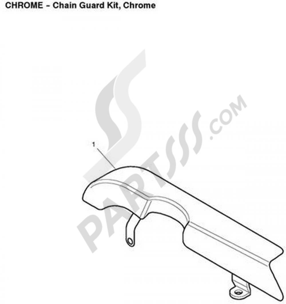 Chain Guard Kit, Chrome Triumph BONNEVILLE T100 EFI