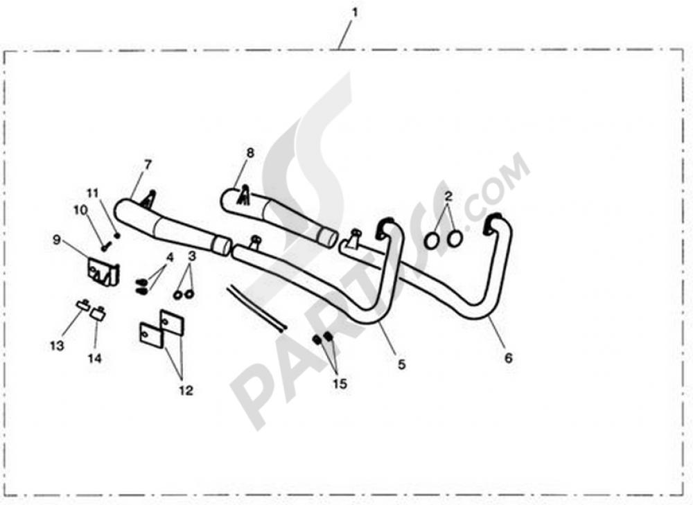 Exhaust System Assy, Arrow 2:2 Triumph BONNEVILLE T100 EFI
