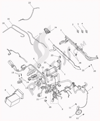 Motorcycle Wiring Harness Diagram