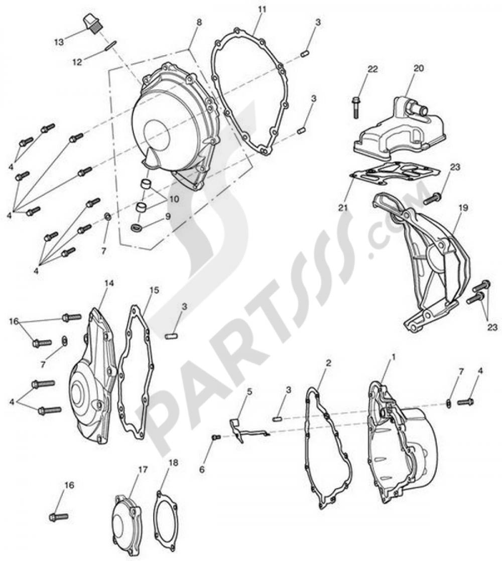 Triumph Crank Case Central Engine Gasket T1260264