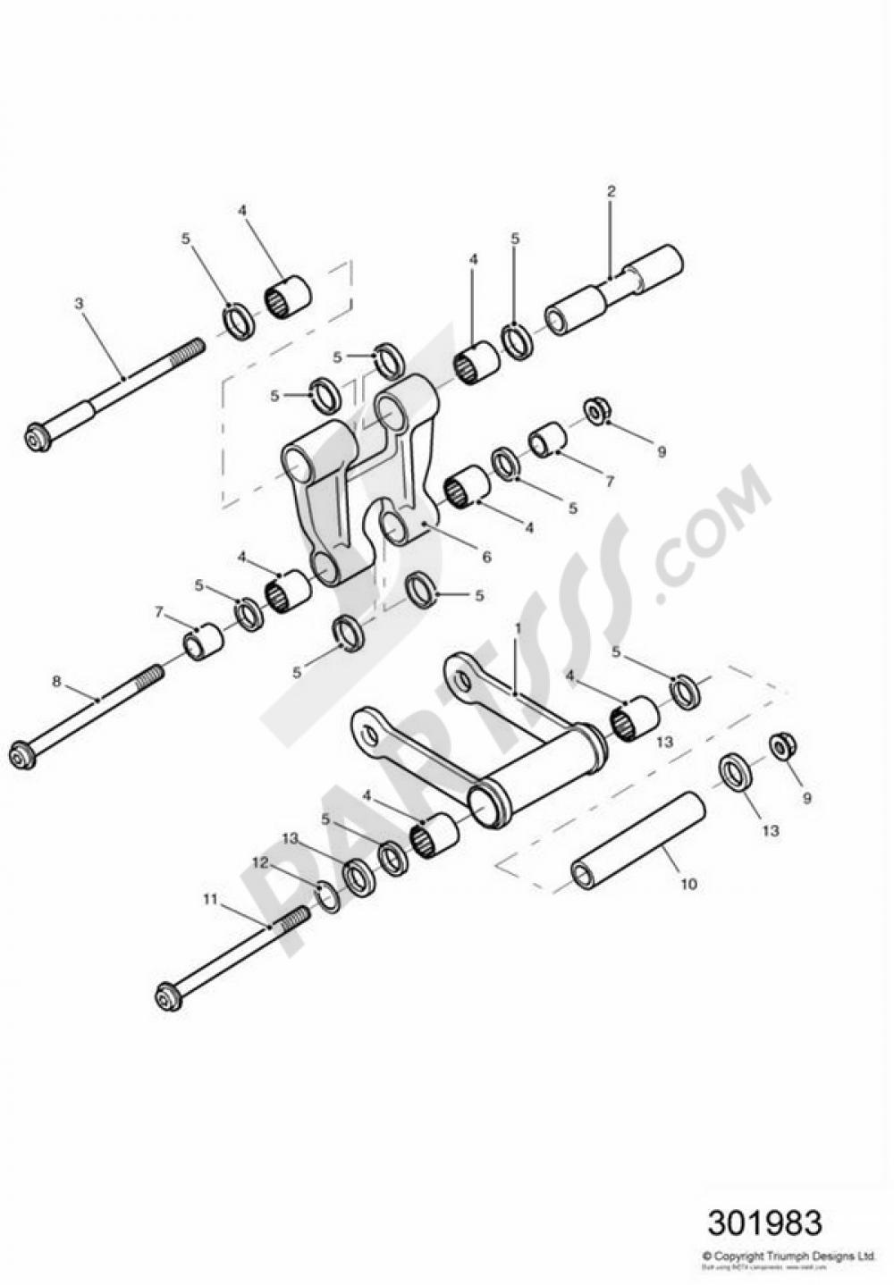 ktm linkage swing arm schematic