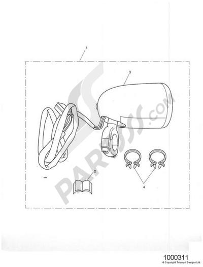 Triumph ROCKET III CLASSIC & ROADSTER Analogue Clock Kit