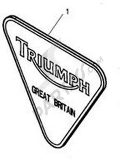 Triumph ROCKET III CLASSIC & ROADSTER Badge Kit, Triangular