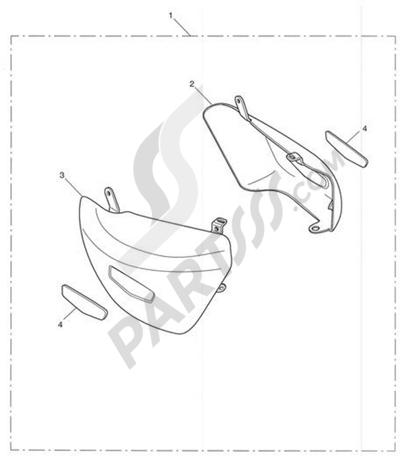 Triumph ROCKET III CLASSIC & ROADSTER Chrome Side Panels