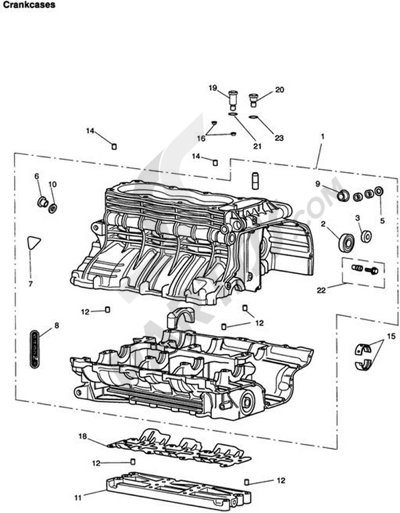 Triumph ROCKET III CLASSIC & ROADSTER Crankcases