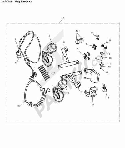 Triumph ROCKET III CLASSIC & ROADSTER Fog Lamp Kit