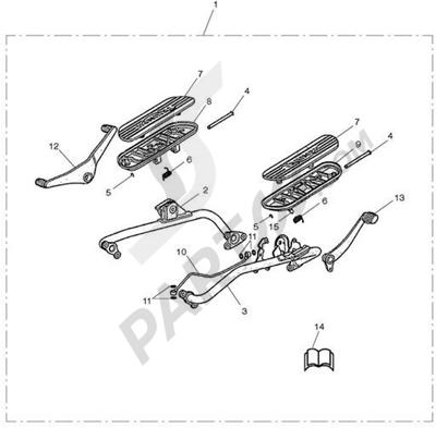 Triumph ROCKET III CLASSIC & ROADSTER Footboard/Rocker Lever Kit - N/A to Roadster
