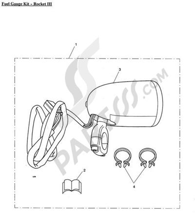 Triumph ROCKET III CLASSIC & ROADSTER Fuel Gauge Kit