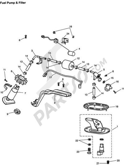 Triumph ROCKET III CLASSIC & ROADSTER Fuel Pump & Filter