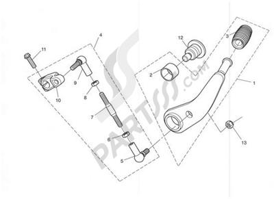 Triumph ROCKET III CLASSIC & ROADSTER Gear Sel. Pedal-Rocket III only