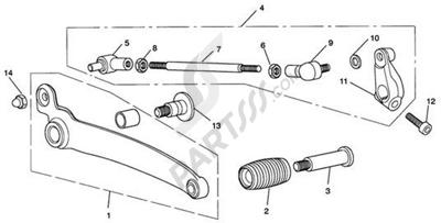 Triumph ROCKET III CLASSIC & ROADSTER Gear Sel. Pedal-Rocket III Roadster only