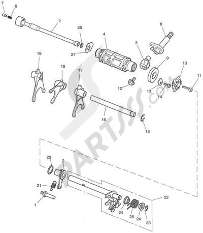 Triumph ROCKET III CLASSIC & ROADSTER Gear Selectors