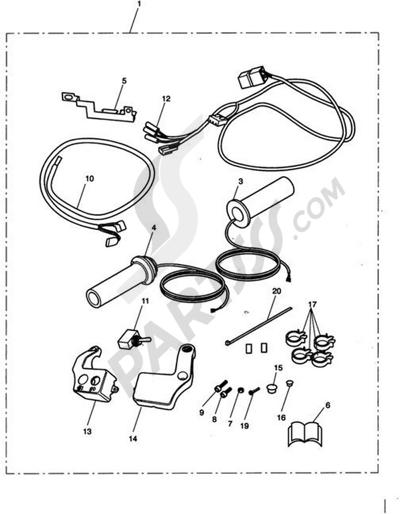 Triumph ROCKET III CLASSIC & ROADSTER Heated Grip Kit 237540