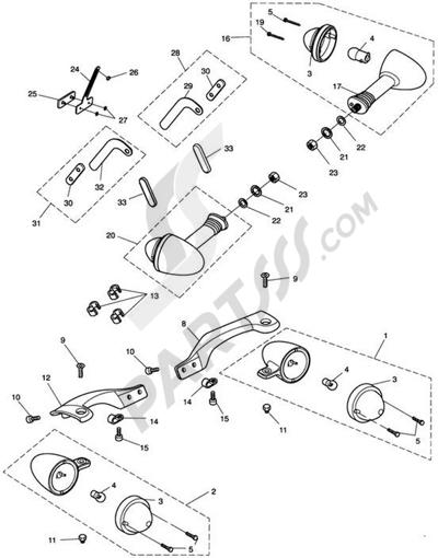 Triumph ROCKET III CLASSIC & ROADSTER Indicators
