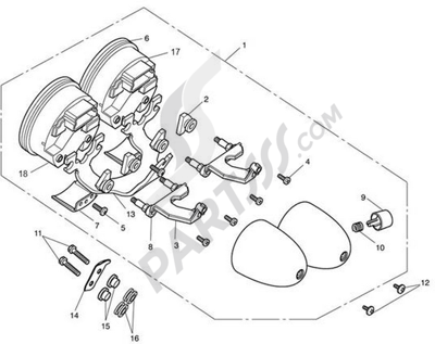 Triumph ROCKET III CLASSIC & ROADSTER Instruments - Roadster