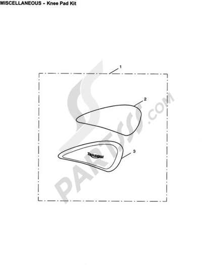 Triumph ROCKET III CLASSIC & ROADSTER Knee Pad Kit