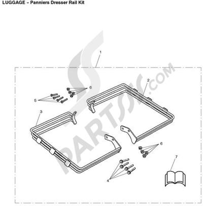 Triumph ROCKET III CLASSIC & ROADSTER Panniers Dresser Rail Kit
