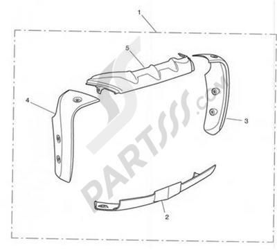 Triumph ROCKET III CLASSIC & ROADSTER Rad Cowl Kit