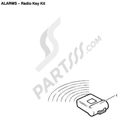 Triumph ROCKET III CLASSIC & ROADSTER Radio Key Kit
