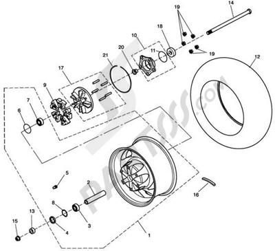 Triumph ROCKET III CLASSIC & ROADSTER Rear Wheel & Final Drive