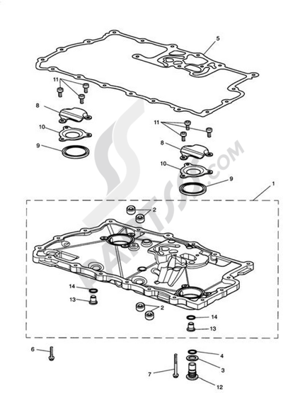 Triumph ROCKET III CLASSIC & ROADSTER Sump & FittingsEng No 217501