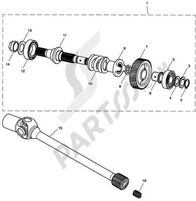 Triumph ROCKET III CLASSIC & ROADSTER Transmission Damper & Drive Shaft