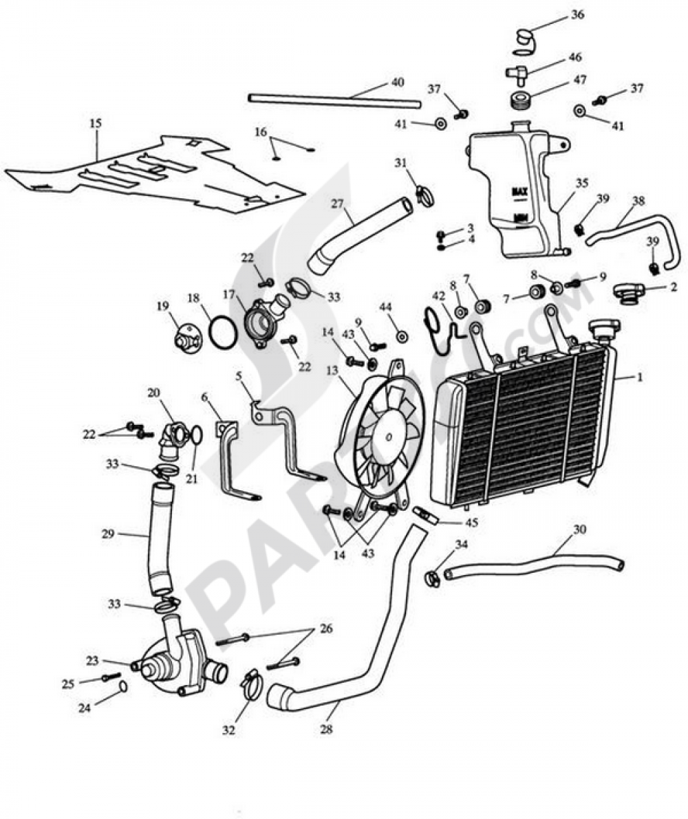 Engine Cooling Gt Cooling System Coolant Gt Coolant Hose Schematic