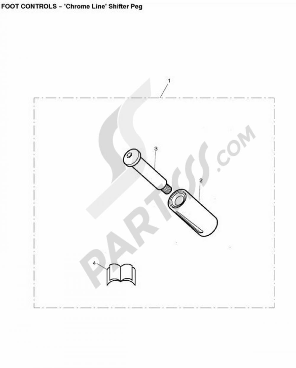 Chrome Line Shifter Peg Triumph Thunderbird 1600 Wiring Diagram
